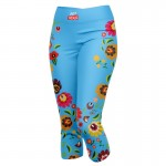 LEGGINSY 3/4 BLUE FOLK