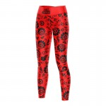 (LDD) LEGGINSY DAMSKIE RED FOLK ALL