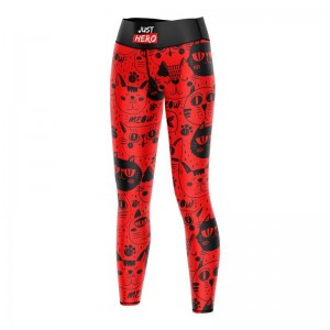 LEGGINSY LONG RED CATS