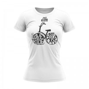 WOMEN T-SHIRT TECHNICZNY LOVE TO RIDE