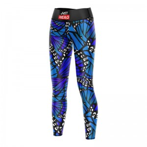LEGGINSY LONG BUTTERFLY BLUE