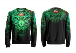 BLUZA UNISEX TIGER GREEN