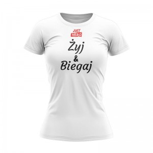 WOMEN T-SHIRT ŻYJ&BIEGAJ WHITE