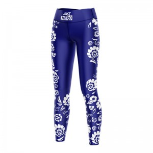 (LDD) LEGGINSY  FOLK NAVY WHITE