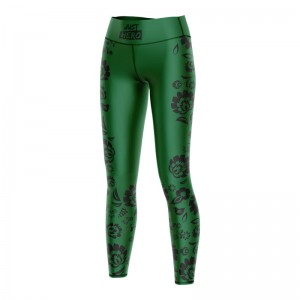 (LDD) LEGGINSY  FOLK GREEN BLACK