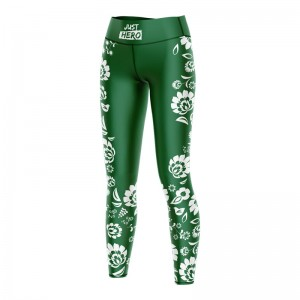 (LDD) LEGGINSY  FOLK GREEN WHITE