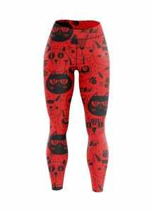 LEGGINSY RED CATS