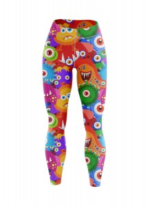 KIDS LEGGINSY OCIEPLANE MONSTER
