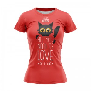 T-SHIRT DAMSKI ALL YOU NEED CAT