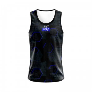 SINGLET HEXAGON BLUE