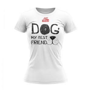 T-SHIRT DAMSKI DOG MY FRIEND